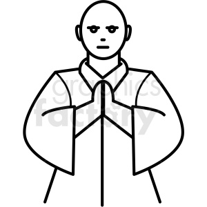 japanese avatar man vector icon clipart. Commercial use image # 410688