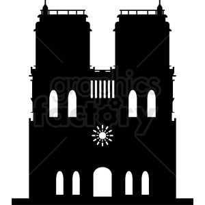 Notre Dame vector clipart clipart. Royalty-free image # 410736