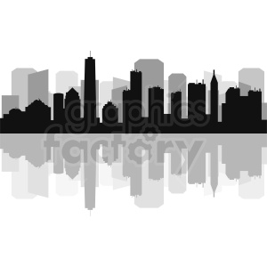 New York city buildings vector skyline clipart. Commercial use image # 410770