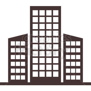 downtown office building vector clipart clipart. Commercial use image # 410774
