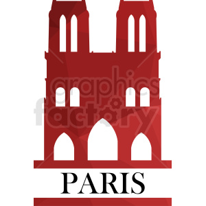 Notre Dame Paris vector design clipart. Royalty-free image # 410775