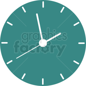 wall clock vector icon clipart. Royalty-free image # 410820