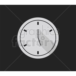 clock on dark background clipart. Royalty-free image # 410831