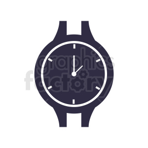black wrist watch face vector clipart clipart. Commercial use image # 410832