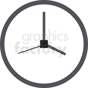 vector wall clock design clipart. Commercial use image # 410834