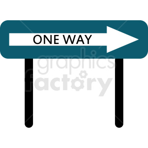 one way street sign vector clipart clipart. Commercial use image # 410870