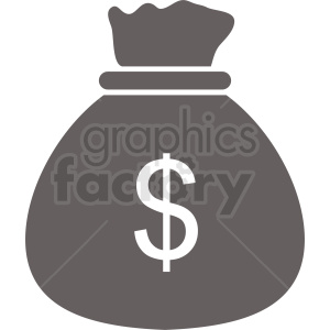 money bag vector icon clipart. Commercial use image # 410900