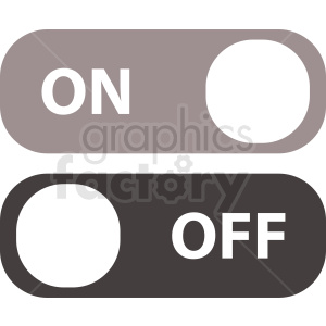 on off switch vector icon clipart. Royalty-free image # 410903