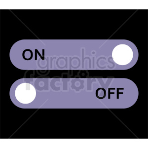 on off vector icon clipart. Commercial use image # 410907