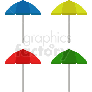 umbrella set vector clipart clipart. Royalty-free image # 410913