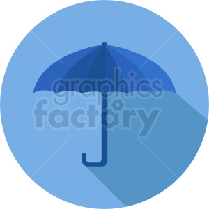 umbrella vector icon on blue circle background clipart. Commercial use image # 410915