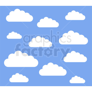 cloud background design clipart. Commercial use image # 410965