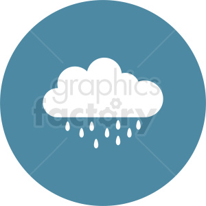 vector rain cloud clipart. Commercial use image # 410972