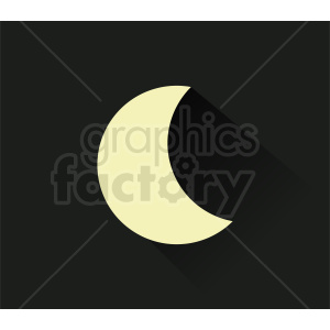 moon vector on dark background
