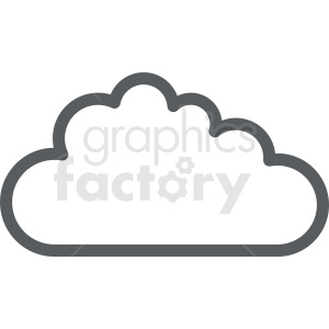 vector cloud clipart outline clipart. Commercial use image # 410980