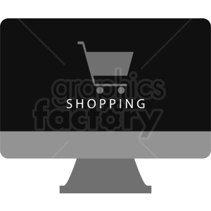 online shopping vector clipart. Royalty-free image # 410999