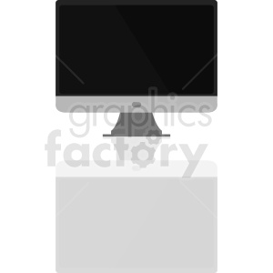 computer monitor vector clipart with shadow clipart. Royalty-free image # 411011