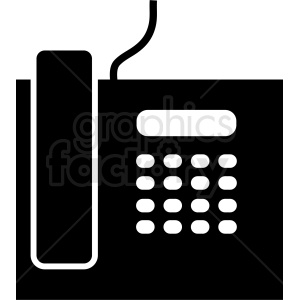 office land line phone vector icon clipart. Royalty-free image # 411016