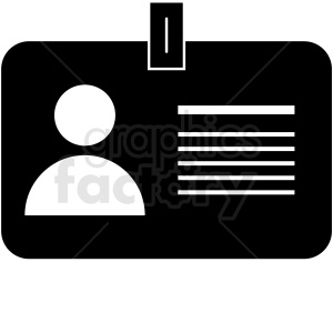 business id card vector icon