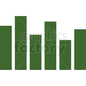 green statistics chart vector icon clipart. Commercial use image # 411023