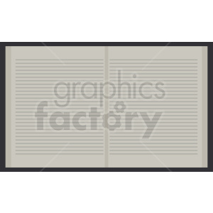 open book vector image clipart. Commercial use image # 411026