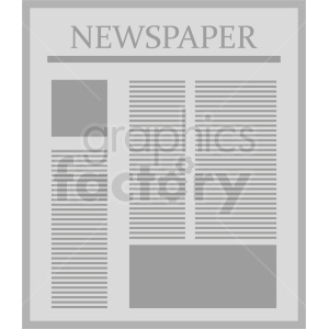 newspaper vector image clipart. Royalty-free image # 411043