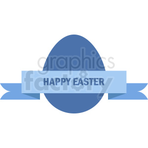 happy easter egg with label vector clipart clipart. Royalty-free image # 411046