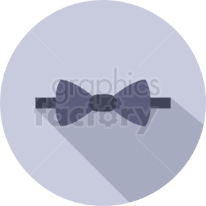 bow tie vector clipart on circle background clipart. Commercial use image # 411055