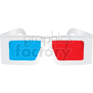 white 3d glasses vector clipart clipart. Commercial use image # 411176