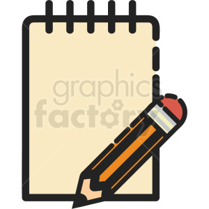 journal page vector icon clipart. Royalty-free icon # 411206
