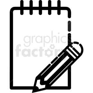 black and white journal page vector icon clipart. Royalty-free image # 411217