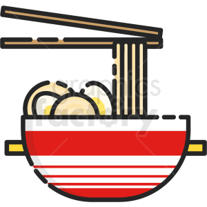 noodle bowl vector clipart icon clipart. Commercial use image # 411227