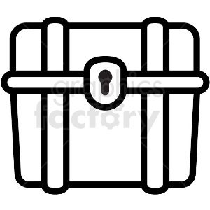 basic treasure chest vector icon clipart. Royalty-free image # 411234
