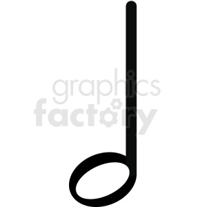 music half note vector image