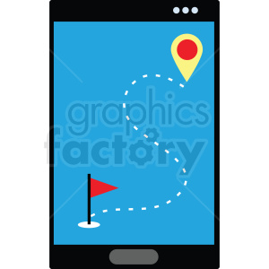 gps ski route flat vector icon clipart. Royalty-free image # 411281