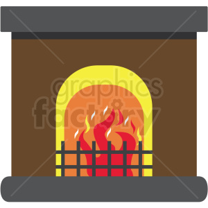 fireplace flat vector icon clipart. Royalty-free image # 411283