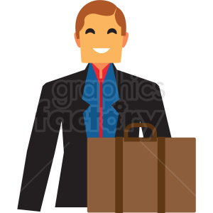 business man flat icon vector icon clipart. Royalty-free image # 411303