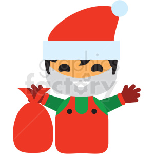 christmas avatar man vector icon clipart. Royalty-free icon # 411351