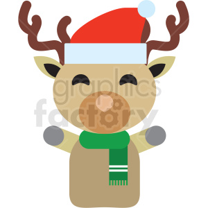 christmas reindeer vector icon clipart. Commercial use icon # 411353