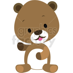 baby cartoon bear vector clipart clipart. Commercial use image # 411361