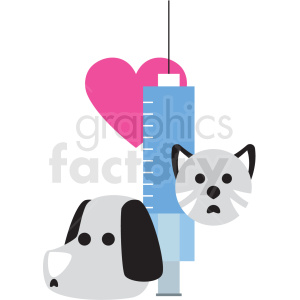 cartoon sick cat and dog vector clipart clipart. Commercial use image # 411375