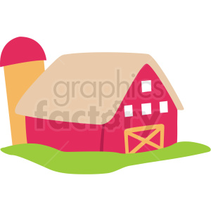 cartoon barn vector clipart clipart. Royalty-free image # 411379