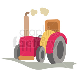 cartoon tractor vector clipart clipart. Commercial use image # 411387