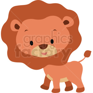 baby cartoon lion vector clipart clipart. Royalty-free image # 411391
