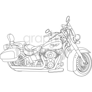 Harley motorcycle vector clipart clipart. Commercial use image # 411479