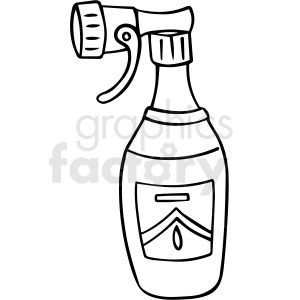 cartoon spray bottle black white vector clipart clipart. Commercial use image # 411489