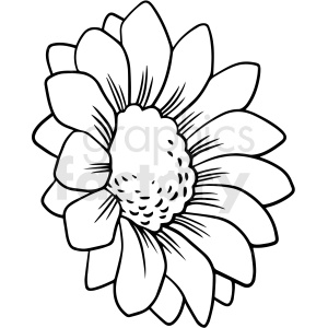 black and white flower vector clipart clipart. Royalty-free image # 411537