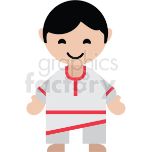 Russia male character icon vector clipart clipart. Royalty-free image # 411573