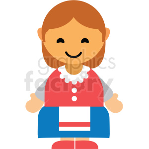 female Norway character icon vector clipart clipart. Royalty-free image # 411604