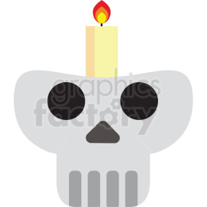 day of the dead skull candle vector clipart clipart. Royalty-free image # 411619